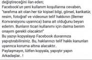 facebook kullanım koşulları